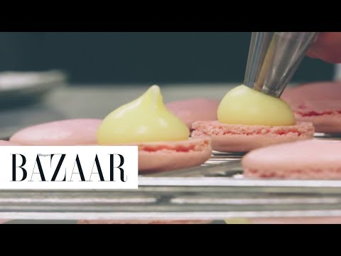 Watch how Ladurée's Classic Macarons are Made   Eat Chic   Harper's BAZAAR