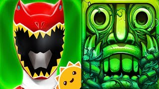Power Rangers Dino Charge Rumble VS Temple Run 2 Gameplay