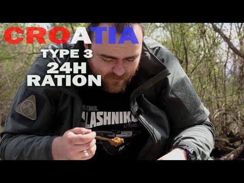 HRVATSKI MRE - Croatian 24h Individual combat ration  (ENG SUBS)