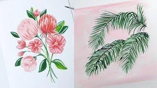 Простые рисунки которые может нарисовать каждый. Уроки рисование акварелью # 12    Lessons drawing.