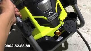 Máy rửa xe dùng pin 36v ryobi giá 4tr
