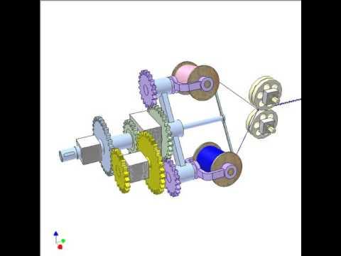 Cable braiding machine - YouTube