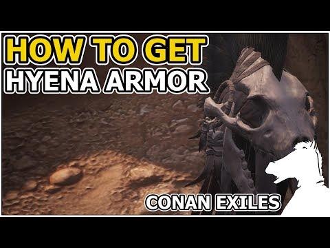 How to get Hyena Armor Set Recipe | CONAN EXILES