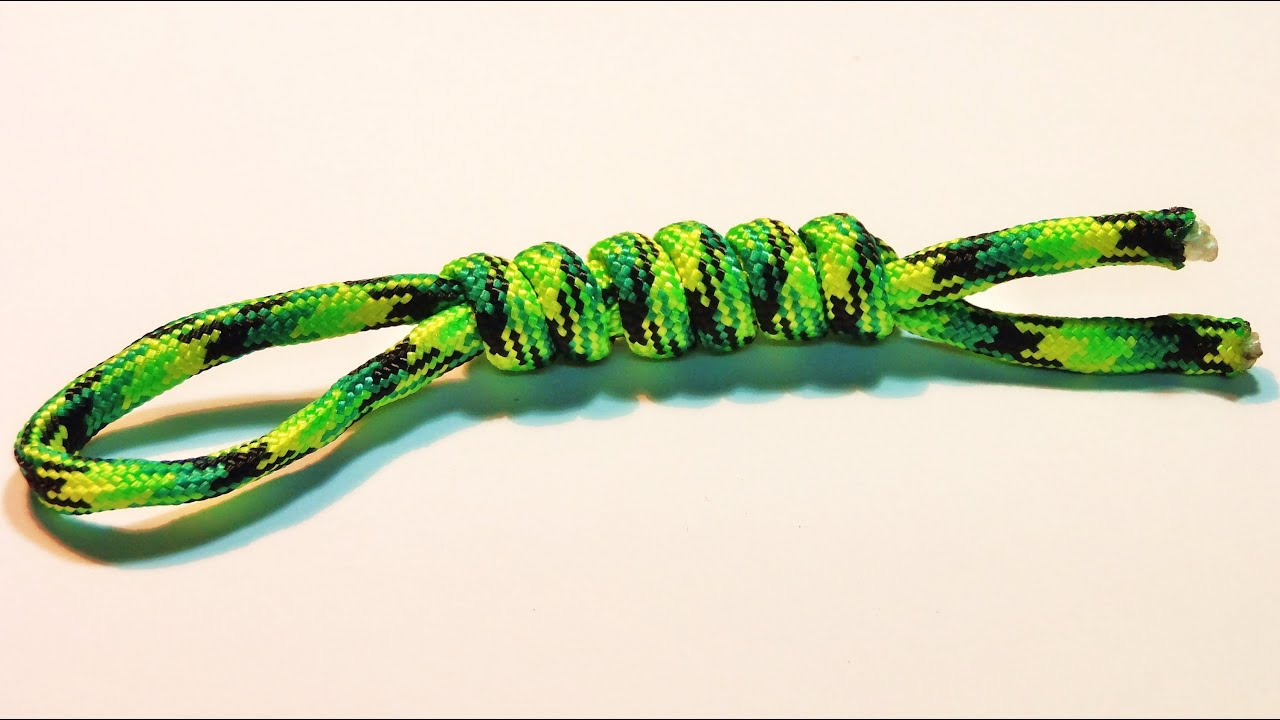 How To Make Tie Snake Knot Lanyard Tutorial Easy And