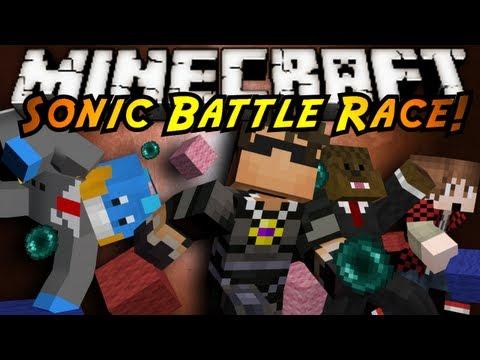 Minecraft Mini-Game : SONIC BATTLE RACE!