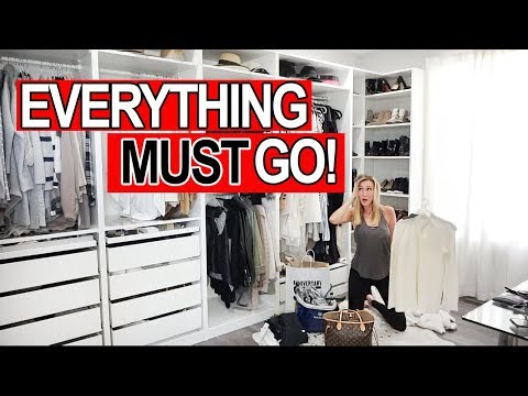 GETTING RID OF ALL MY CLOTHES! Extreme Closet Clean Out!