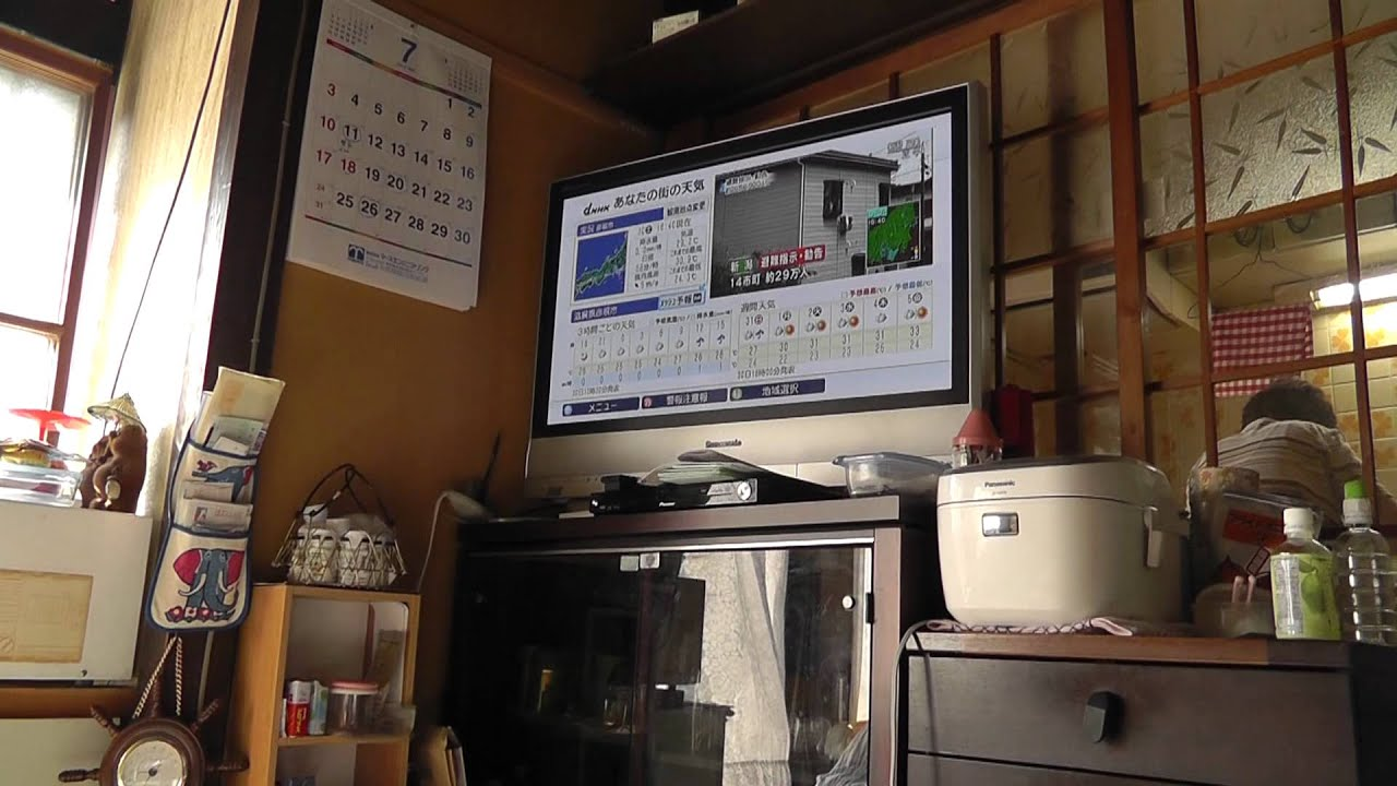 Kitchen Refrigerator Tv Small Chairs Saving Space In Japan Youtube