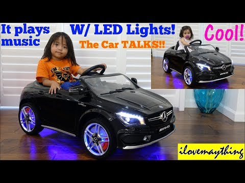 Power Wheels w/ Lights and Music! 12 Volts Ride-On Car. A Toy CAR! Mercedes-Benz CLA45 AMG Toy Car