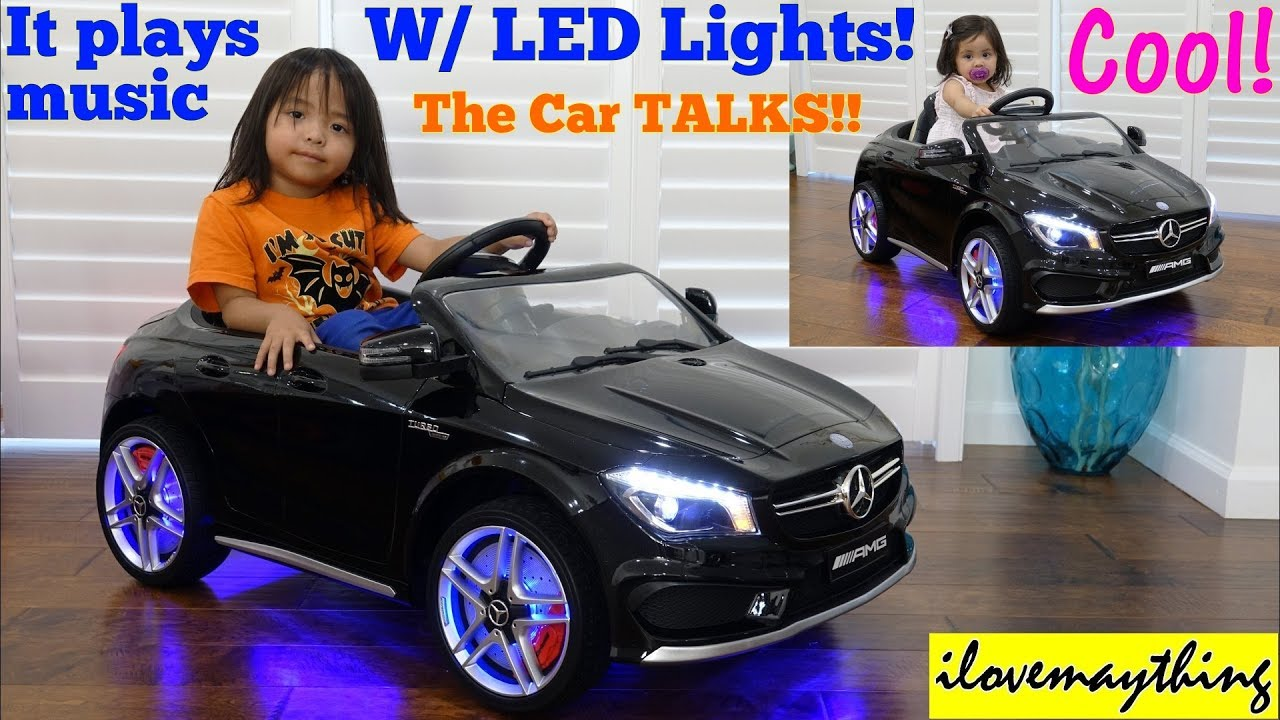 power wheels w lights and music 12 volts ride on car a toy car mercedes benz cla45 amg toy car youtube power wheels w lights and music 12 volts ride on car a toy car mercedes benz cla45 amg toy car