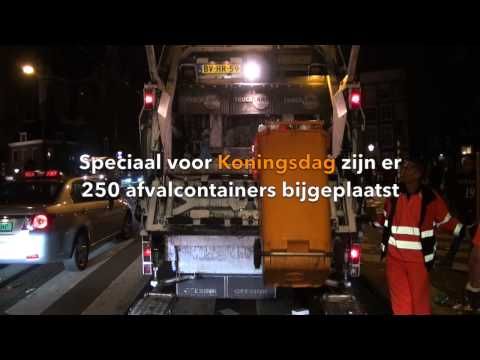Reiniging Stadsdeel Centrum - Amsterdam In Actie Na Koningsdag 2014
