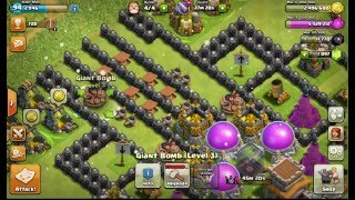 Funny Moments | Clash Of Clans | Troll Base Town Hall 8