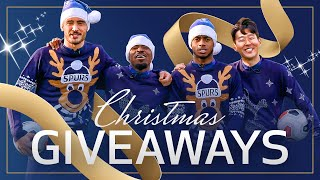 SPURS CHRISTMAS GIVEAWAY | ft. HEUNG-MIN SON, SERGE AURIER, PAULO GAZZANIGA & RYAN SESSEGNON
