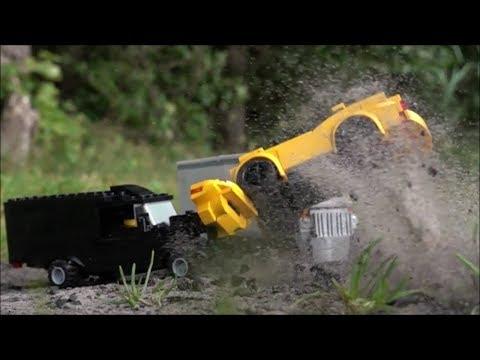 LEGO Car Crash Compilation in Super Slow motion 1000 fps 2018 - 1