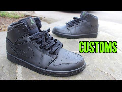 to PAINT JORDAN Shoes! (Blackout Custom