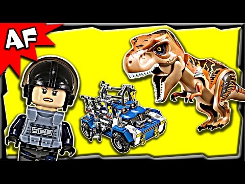 Lego Jurassic World T-REX Tracker 75918 Stop Motion Build Review