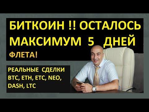 БИТКОИН!! ОСТАЛОСЬ МАКСИМУМ 5 ДНЕЙ!!! РЕАЛЬНЫЕ СДЕЛКИ ПО BTC