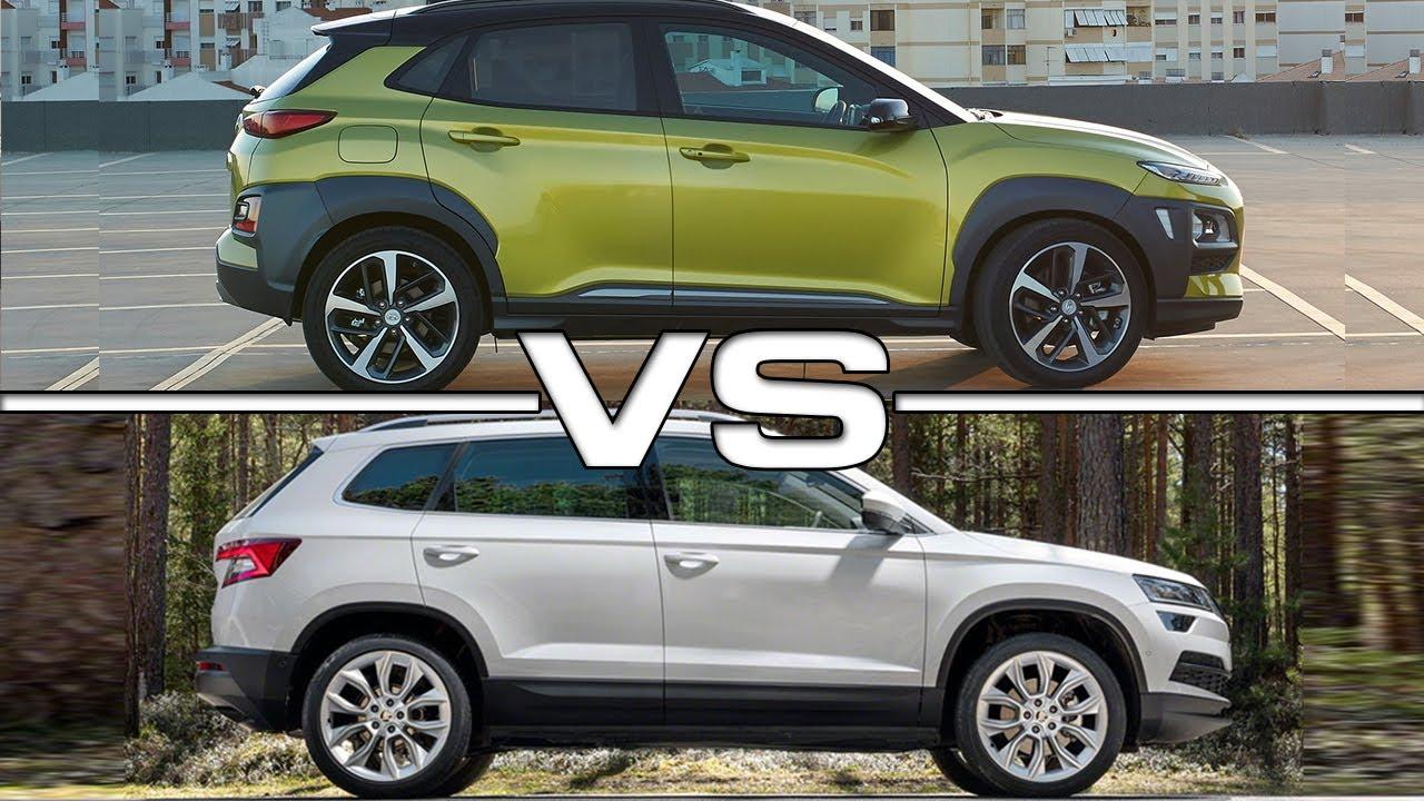 Tucson 2017 Vs Tucson 2018 >> 2018 Hyundai Kona vs 2017 Skoda Karoq - YouTube