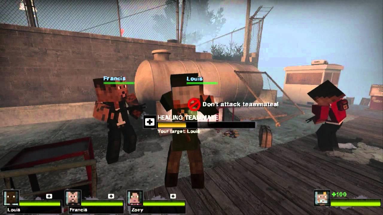 Left 8 Dead 8: Original Survivors Minecraft Skins - HD