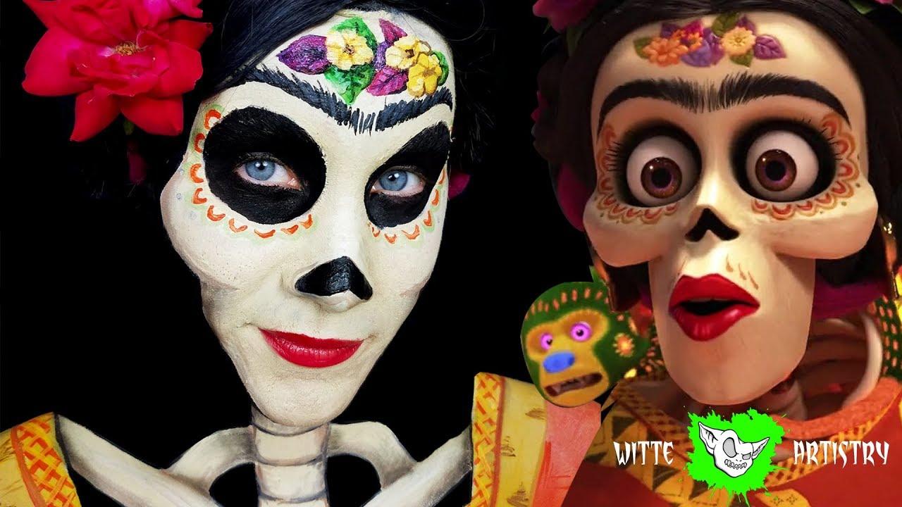 f09d128af12 ✅FRIDA KAHLO: DISNEY COCO MOVIE MAKEUP TUTORIAL (Pretty Sugar Skull makeup)