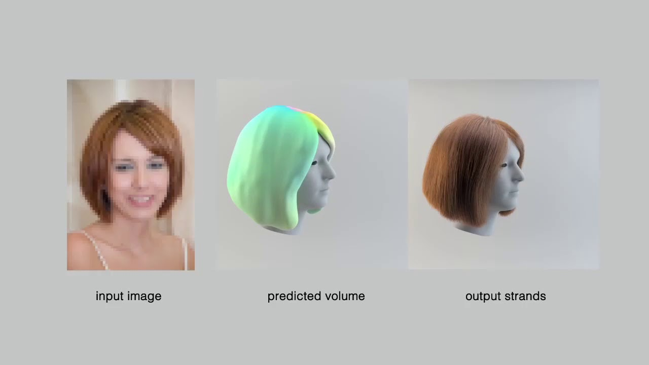 3d Hair Synthesis Using Volumetric Variational Autoencoders