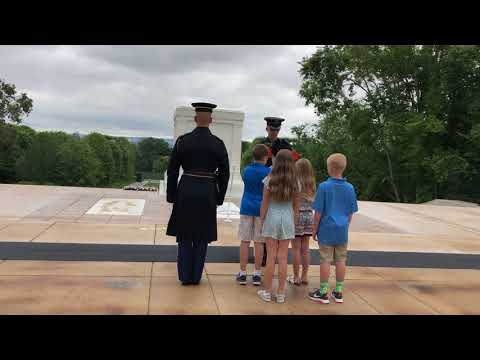 North Trail Elementary School Wreath Laying Ceremony at Arlington National Cemetary