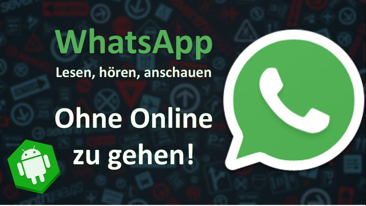 WhatsApp unsichtbar benutzen - über den Flugmodus