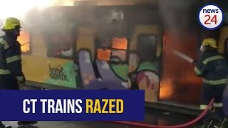 VIDEO | Train carriages on fire in Cape Town