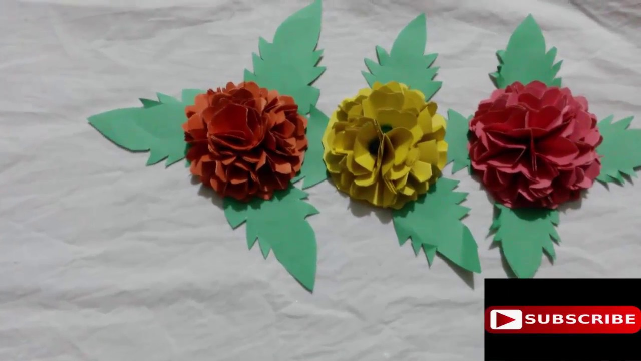 How to make paper flowers easy simple ll easy to make origami how to make paper flowers easy simple ll easy to make origami paper flowers step by step dhlflorist Gallery
