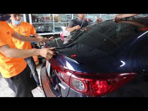 (đồ chơi mazda 3) Mazda 3 nâng ấp cảm biến trước sau, full đèn mustang
