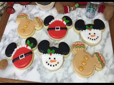 mickey mouse holiday cookieshow to - Mickey Mouse Christmas Cookies