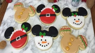 Mickey Mouse Holiday Cookies(How To)