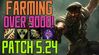 farming over 9000 patch 5 24 gangplank gameplay german hd s5