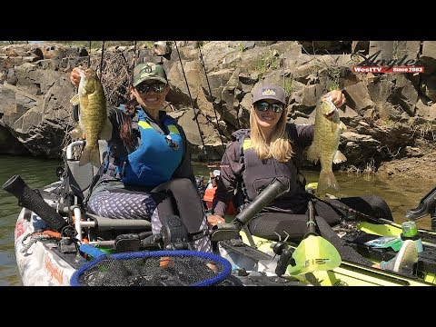 Lake Berryessa Kayak Fishing For Smallmouth Bass With Virginia & Annie
