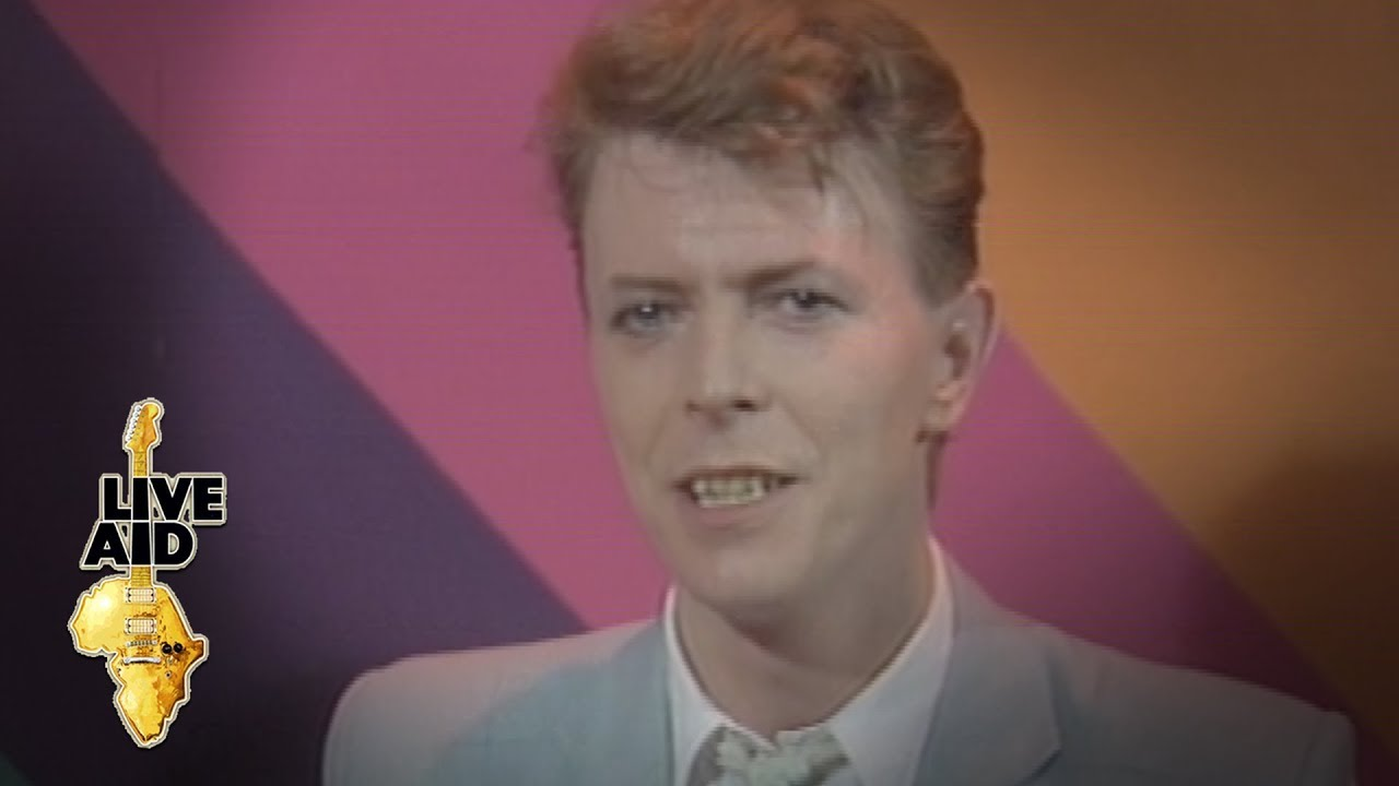 David Bowie - Heroes (Live Aid, 1985) - YouTube |David Bowie 1985