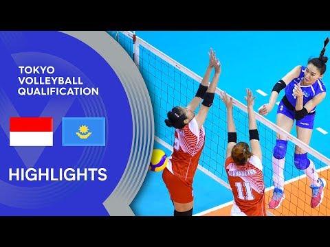 Indonesia vs. Kazakhstan - Highlights   AVC Women's Tokyo Volleyball Qualification 2020