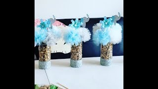 Diy baby shower elephant centerpiece pinterest inspired