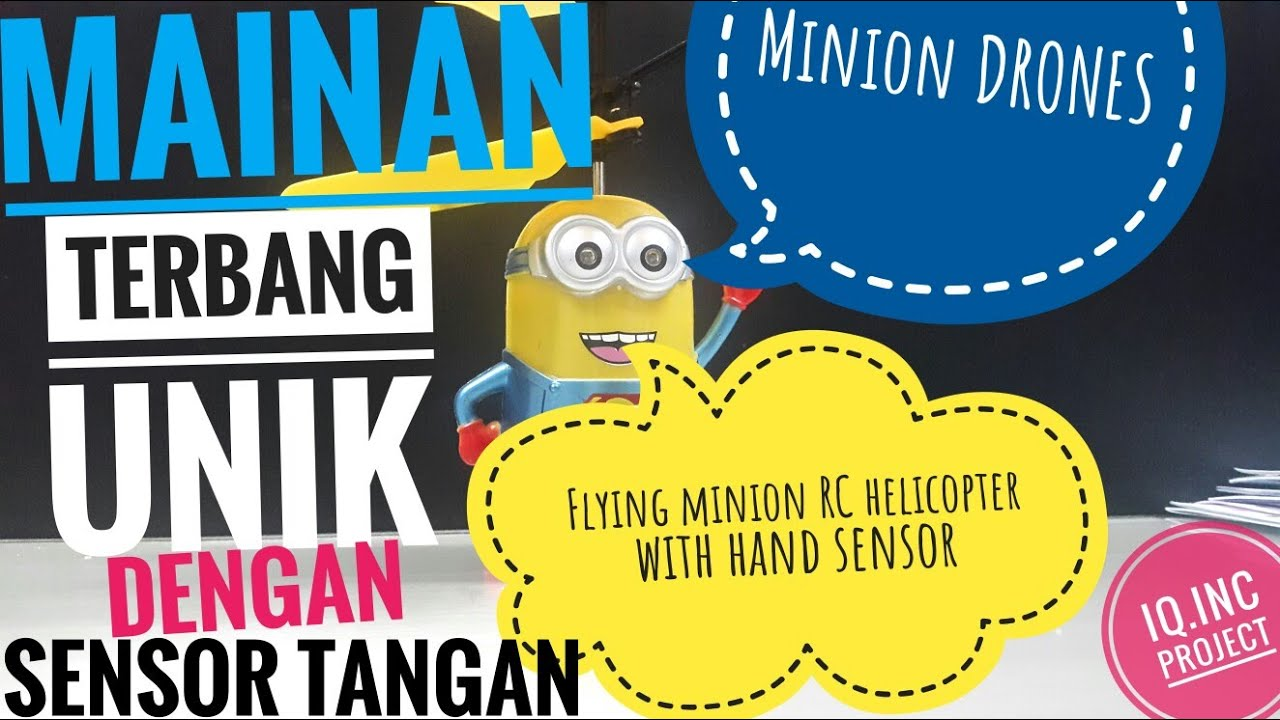 Flying Minion Rc Helicopter With Hand Sensor Drones Mainan Drone Karakter Helikopter Terbang Toys