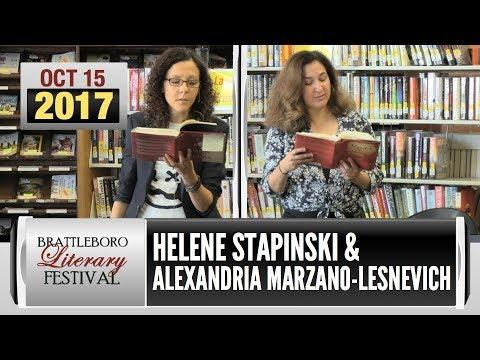 Brattleboro Literary Festival: Alexandria Marzano-Lesnevich, Helene Stapinski (2017)