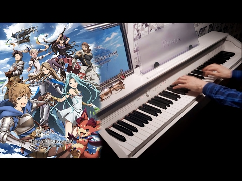 Granblue Fantasy: The Animation OP- Go 【Rolelush】【piano】 1000 sub