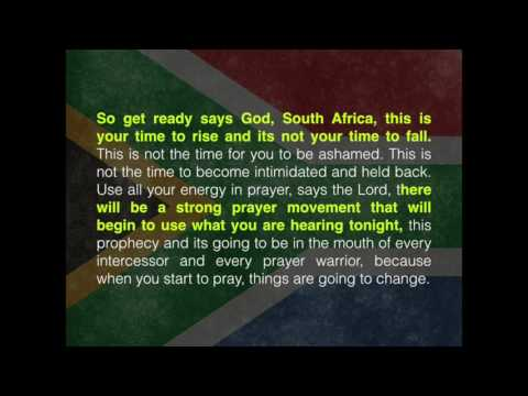 Prophecy over South Africa, dated 2015 by Jonathan David