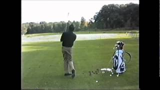 SEVE practicing his irons during the World Matchplay at Wentworth