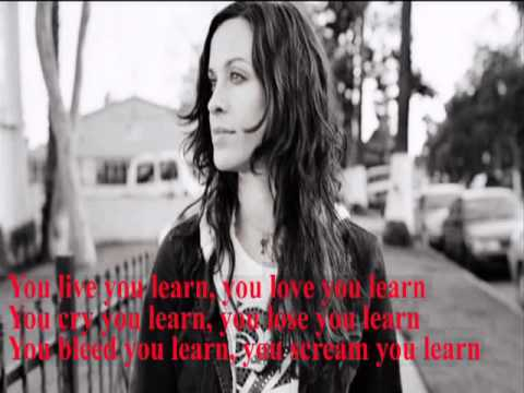 Alanis Morissette - You Learn (Live) - YouTube