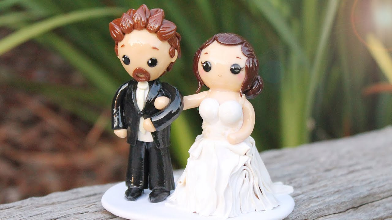 clay wedding cake toppers wedding cake topper polymer clay process 12879