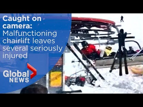 Skiers violently thrown from malfunctioning chairlift in Georgia