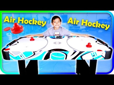 Air Hockey Table From Toys R Us, Dad Vs Son Fun Game Challenge - TigerBox HD