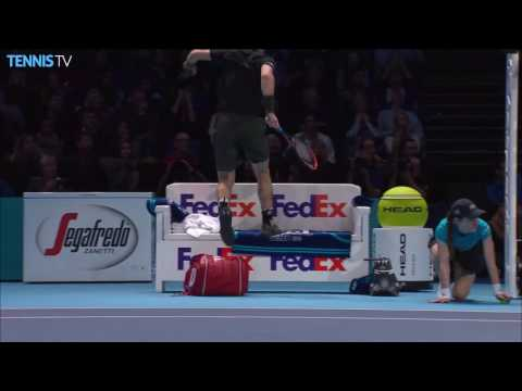 Murray Jumps Over Bench Against Raonic London 2016