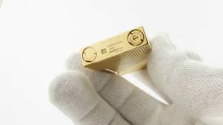 Review of Rare Gold S. T. Dupont Diamond Head Line/Ligne 2 Lighter from 80's Ping Sound
