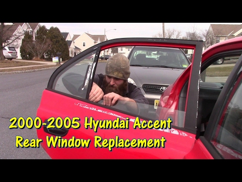 How to Replace a Rear Door Window on a 2000-2005 Hyundai Accent by @GettinJunkDone
