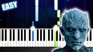 The Night King (Game of Thrones)  EASY Piano Tutorial by PlutaX