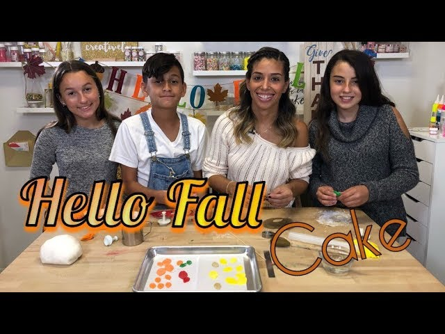 Hello Fall Cake with One Love Cakes and her little helpers!